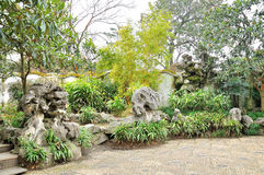 Rockery in Humble Administrator's Garden. Humble Administrator's Garden is the representative works of Chinese Jiangnan classical garden.In 1997 was approved by royalty free stock photos