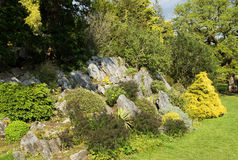 Rockery park Stock Photo