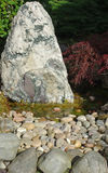 Rockery and pond Stock Photography