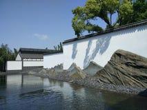 Rockery som snider konst, suzhou, porslin arkivbild