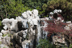 Rockery Waterfall Royalty Free Stock Images
