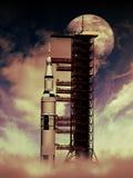 Rocket à la lune photo stock