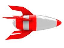 Rocket. 3d illustration of cartoon rocket isolated over white background vector illustration