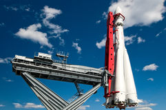 Rocket. The rocket on the start Stock Photo