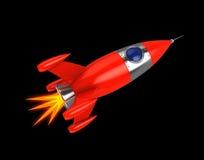 Rocket. 3d illustration of space rocket over black background Stock Photo