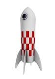 Rocket. Cartoon like illustration of a retro looking rocket. Isolated on white background vector illustration