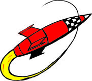 Rocket. Illustration of a rocket royalty free illustration