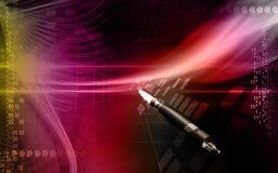 Rocket. Digital illustration of a rocket launching royalty free illustration
