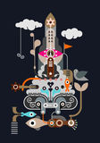 Rocket - abstract vector illustration Royalty Free Stock Photo
