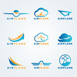 Rocket and air plane logo vector set design Royalty Free Stock Images