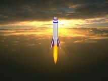 Rocket alle stelle Fotografie Stock