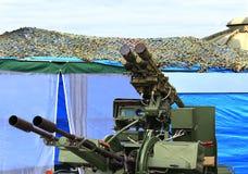 Rocket-Artillery anti-aircraft gun Stock Photo