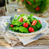 Rocket (Arugula) and Cherry Tomato Salad Stock Image