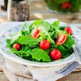 Rocket (Arugula) and Cherry Tomato Salad Royalty Free Stock Image