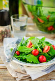 Rocket (Arugula) y Cherry Tomato Salad Fotos de archivo libres de regalías