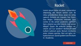 Rocket Banner Concept illustration de vecteur