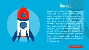 Rocket Banner Concept illustration stock