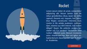 Rocket Banner Concept illustration libre de droits