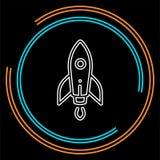 Rocket base icon. spacecraft - vector rocket vector illustration