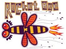 Rocket bee. Bee flies like a rocket. Text over Rocket bee Stock Images