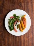 Rocket-Birne Salat Stockfoto