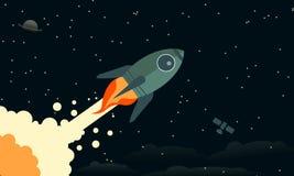 Rocket Blasts Off Background Wallpaper clásico Imágenes de archivo libres de regalías