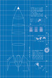 Rocket Blueprint (vertical) Images stock