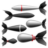 Rocket bomb set Royalty Free Stock Photos
