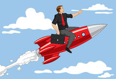Rocket Businessman Stock Image