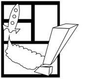 Rocket cómico Foto de archivo libre de regalías
