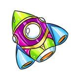 Rocket Cartoon-illustratie Stock Fotografie