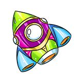 Rocket Cartoon illustration Stock Photography