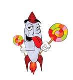 Rocket cartoon Royalty Free Stock Photography