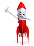 Rocket character with best sign Royalty Free Stock Photos