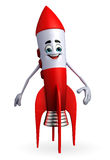 Rocket character is standing Royalty Free Stock Photo