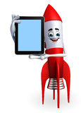 Rocket character with tab Stock Photos