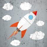Rocket Clouds Concrete Royalty Free Stock Photos