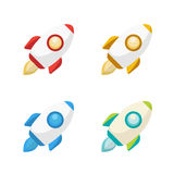 The Rocket collection icon 3d Royalty Free Stock Image
