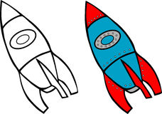 Rocket coloring book Stock Image