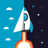 Rocket concept icon Royalty Free Stock Photo