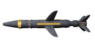 Rocket. 3D image of rocket, isolated on white Stock Photo