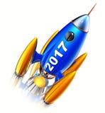 Rocket 2017 Royalty Free Stock Photos