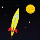 Rocket dans l'espace Photographie stock