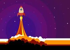 05 Rocket dans l'espace Image libre de droits