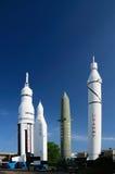 Rocket dans le ciel Image stock