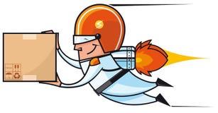 Rocket deliveryman Stock Image