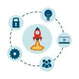 Rocket design. Rocket graphic design , vector illustration Stock Image