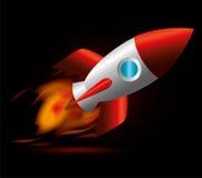 Rocket design. Rocket design over black background, vector illustration stock illustration