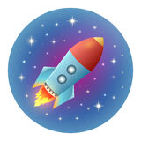 Rocket Detailed Illustration Stock Photo