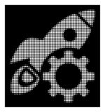 Rocket Development Icon tramé blanc illustration stock
